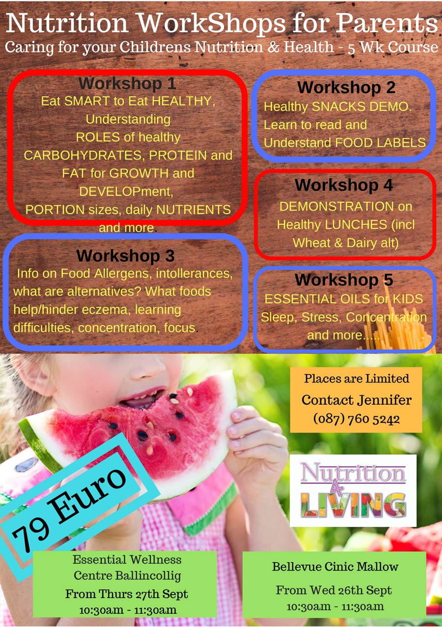 Nutrition Workshops for Parents - Bellevue Clinic