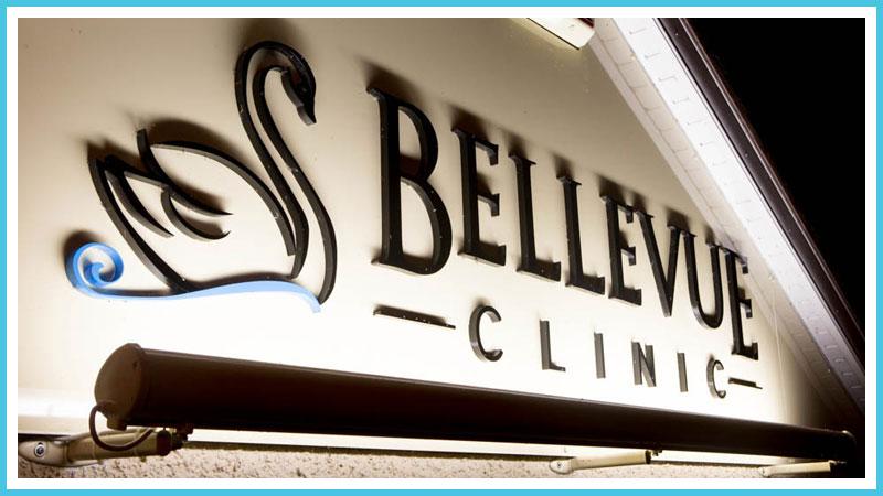 Bellevue Clinic Wall Sign